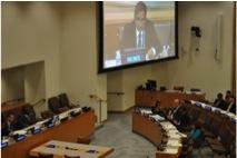 Gathering at UN